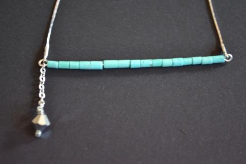 Collier horizon turquoise