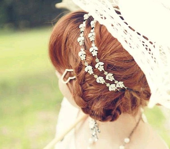 Headband metal et strass