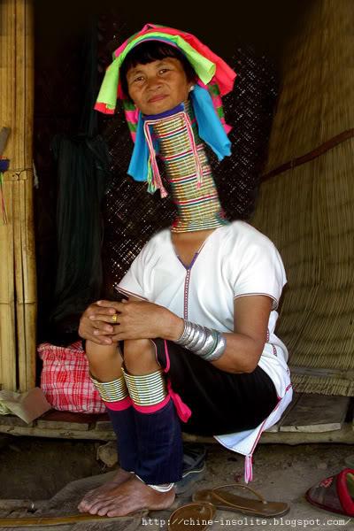 femme girafe