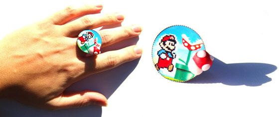 bague Mario champignon