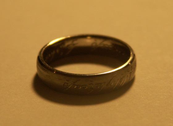 Bague seigneur des anneaux