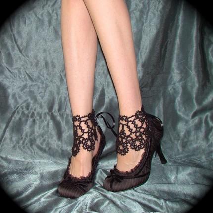 Sympa les chaussures en crochet, non ?