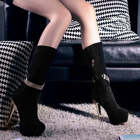 Directement sur les bottes, pour l'hiver.