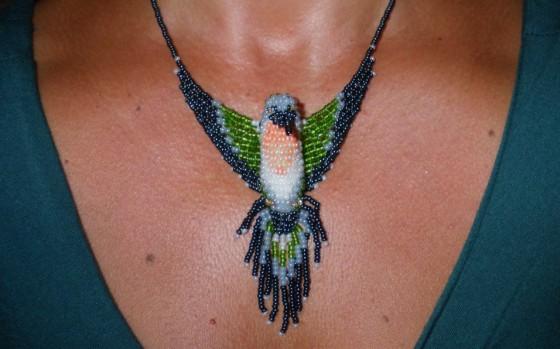 Un pendentif en perles