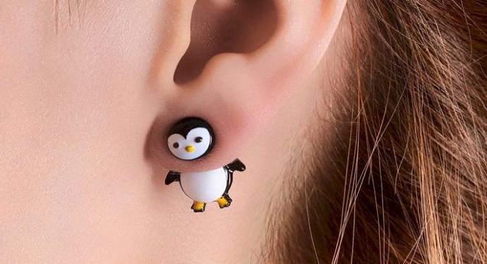 Je craque pour ces petites boucles d'oreille pingouin