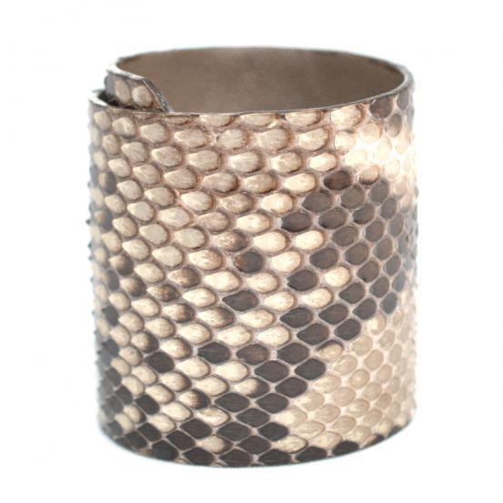 Beau bracelet manchette en vrai python ! (d'élevage)